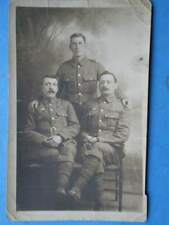 POSTCARD RP 3 SOLIDERS POSING FOR PHOTO