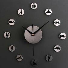 DIY Sexual Position Clock / 24Hours Sex Clock / Novelty Adult Only Wall Clock E