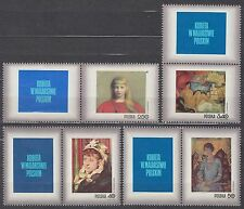 POLAND 1971 **MNH SC#1839/45+B123+ lab.III Stamp Day - Woman in Polish painting.