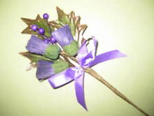 Back by Popular Demand! Triple Thistle, Berry & Foliage Buttonhole with Bow