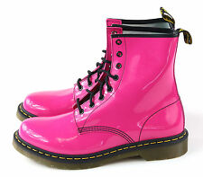 Dr. Martens Women's 1460 8 Eye Hot Pink Patent Leather Size 9 UK 11 US