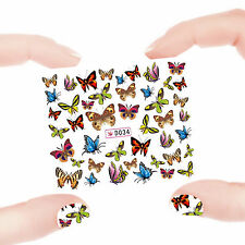 Nail Art Manicure Water Transfer Decal Stickers Flowers & Butterfly D34