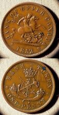 Token Upper Canada : 1852 1  Penny   XF-AU  Couple Spots  # Tn 3  IR2026
