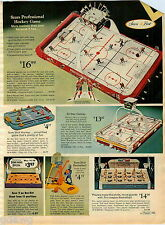 1970 PAPER AD Game Hockey Professional All Star Sure Shot Popeye Ball Toss