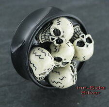 TOTENKOPF Plug Oldschool Piercing 26MM Ohrring Tunnel Skull Ohrpiercing