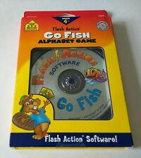 """School Zone: Go Fish PC CD Flash Action Software for kids """"NEW"""" ***FUN GAME***"""