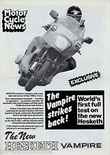 Presión especial Hesketh v1000 vampiros 1983 de motor cycle news Moto Moto
