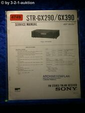 Sony Service Manual STR GX290 /GX390 FM/AM Receiver (#4749)