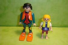 Playmobil : Lot de 2 personnages playmobil / figure