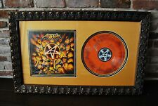 Anthrax Worship Music Autographed Album Band Signed Twice  Custom Framed