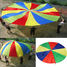 2M Kids Children Play Rainbow Parachute Outdoor Game Family Exercise Sport Toy
