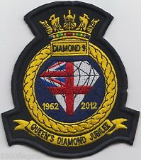 Royal Navy Queen's Jubilee Embroidered Crest Badge Patch MOD Approved *