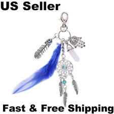 Dream Catcher Keychain Rhinestone Crystal Key Ring Chain Bag Charm Pendant Gift