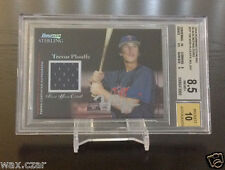 #10/25 TREVOR PLOUFFE RC AUTO Jersey Black Refractor 2004 Bowman Sterling BGS