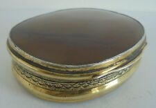 Silver Gilt And Agate Snuff  Joseph Willmore Birmingham 1819