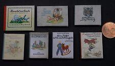 7 Kinderbücher Buch 1:12  Miniatur Puppenstube Puppenhaus Setzkasten