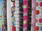 10 SHEETS OF GOOD QUALITY FEMALE / MALE ASSORTED BIRTHDAY WRAPPING PAPER