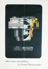 BIOGON 21MM 4.5 CARL ZEISS 35MMM LENS INFORMATION PAMPHLET