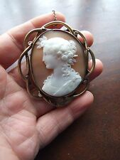 Antique Victorian Cameo Pinchbeck Brooch Dated 1866