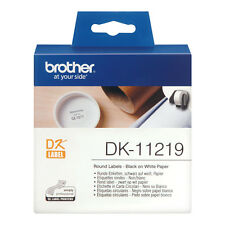 BROTHER DK-11219 BLACK ON WHITE PAPER LABELS ROLL / 1200 LABELS / 12mm ETIKETTES
