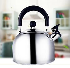 Stainless Steel Whistling Tea Induction Kettle Water Coffee Pot Heat Boiler 1.6L