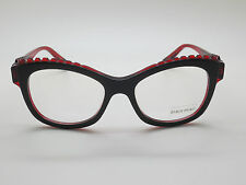 NEW ALAIN MIKLI A0 1400 3075 Black/Red Ladies 50mm Eyeglasses