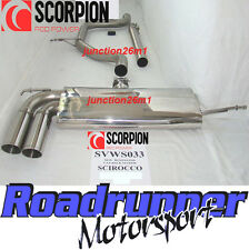 Scorpion SVWS033 Scirocco 2.0 TDI Stainless Exhaust System Cat Back Non-Res