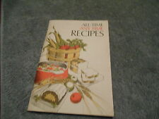 ALL - TIME ANY TIME RECIPES 1973 - BY QUAKER OATS - COOKBOOK