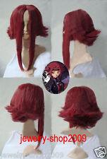 New wig Cosplay CodeGeass Kouzuki Kallen Dark Red Heat Wig