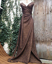 BNWOT Glamorous PHASE EIGHT Hollywood-style flattering copper metallic dress 16