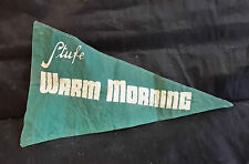 D10   BANDIERINA PUBBLICITARIA STUFE WARM MORNING ANNI '70
