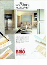 PUBLICITE ADVERTISING 126  1979   les mouloures décoratives country & city Brio
