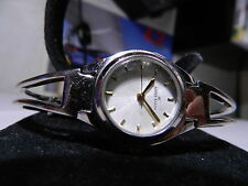 Anne Klein Women's Designer Watch has Sunburst Design White Face & Golden Hands