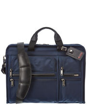 Tumi Alpha Business Compact Large Screen Computer Brief Macbook bag NWT Navy