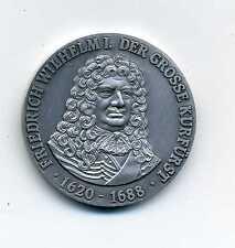 Kunst Medaille Friedrich Wilhelm I Kurfürst 1620 - 1688 Auf Gott Trau Ich M_034