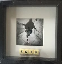 """BLACK FRAME OLD SCHOOL FRIENDSHIP """"SKIP""""SCRABBLE TILE PICTURE CAN PERSONALISE"""