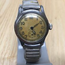 Vintage Timor Mens 17 Jewels WW2 Military WVS 1307 Hand-Winding Watch Hours~Runs