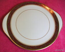 "Royal Doulton (Martinique) 10 1/2"" HANDLED CAKE PLATE Pat #H5188 Exc"