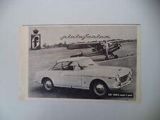 advertising Pubblicità 1962 FIAT 1600 S COUPE' PININFARINA
