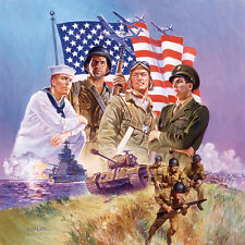 """ARMED FORCES 500 Piece Jigsaw Puzzle Military Gift 19.5""""x19.5"""" Army Navy Marine"""