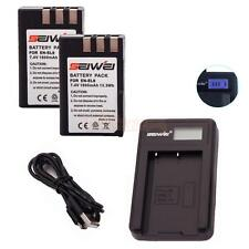 2X 1800mAh Replacement Li-ion EN-EL9/EL9A Battery for Nikon D3000 w/ USB Charger