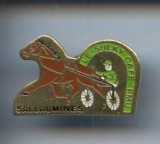 RARE PINS PIN'S .. SPORT CHEVAL HORSE HIPPISME TROT SALLAUMINES  ¤5A