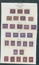 Canada POSTAGE DUE Stamps,Complete Set J 1-J 20,1906-1965,Mint,LH