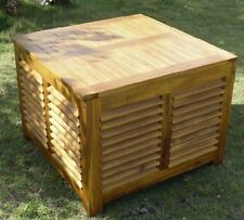outdoor indoor solid wood coffee table with storage brand new condition!