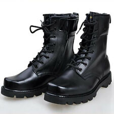 New Fashion Moda Essentials Leather  Men's Combat Boots X198 Work Boots Military