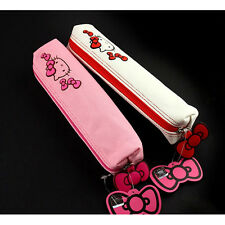 Sanrio Hello Kitty Skinny Pouch Pencil Case Bag Zippered Cosmetic - PINK