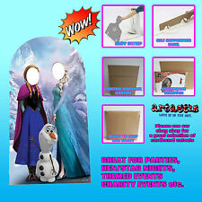 DISNEY FROZEN STAND IN ADULTS SIZE CARDBOARD CUTOUT OLAF ELSA & ANNA
