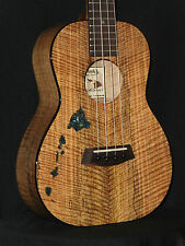 KANILEA ISLANDS CUSTOM RARE PREMIUM CURLY SPALTED MANGO 4 STRING TENOR UKULELE