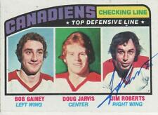 JIM ROBERTS SIGNED 1976-77 TOPPS #217 - MONTREAL CANADIENS