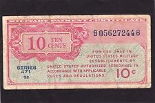 Military Payment Certificate 10 cents ND1947-48 P-M9 Series 471   VG